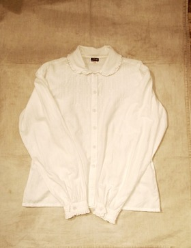 L/S Cotton White Blouse