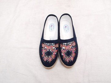 Cotton Flat Shoes